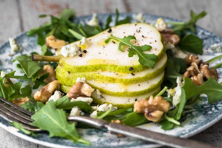 Pear Salad with Creamy Walnut Vinaigrette