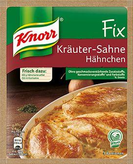 KNORR+Fix+für+Kräuter-Sahne+Hähnchen