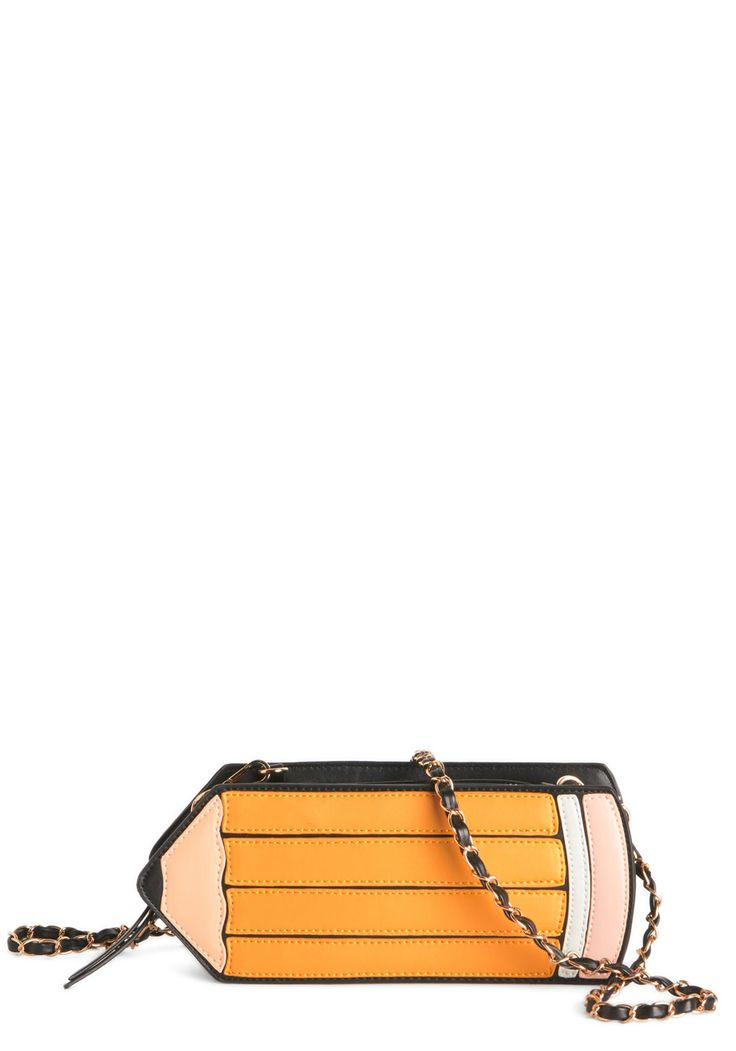 Draw Your Attention Bag. Pencil yourself in for some charmingly studious style by toting this crossbody. #yellow #modcloth