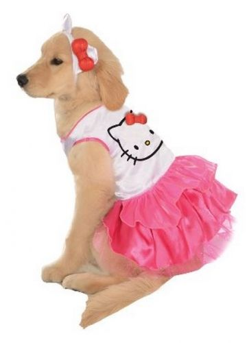 Super cutie Hello Kitty Dog Costume! In lots of different sizes for little dogs and big dogs! From www.PetFlow.com :)