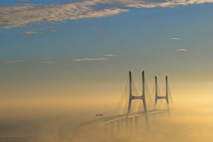 Vasco da Gama bridge , lisbon portugal