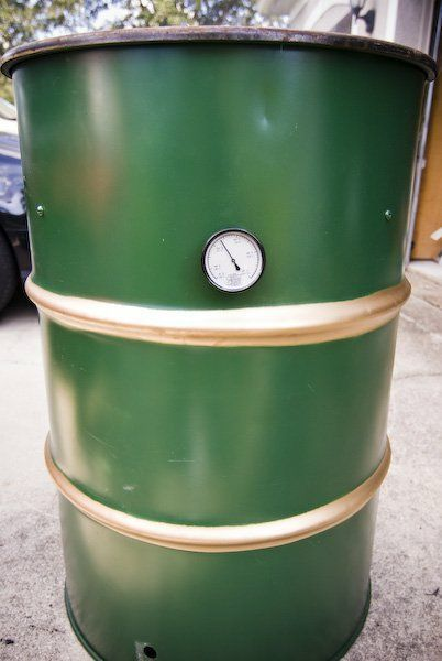 There is no better feeling than slow cooking a big cut of meat on a smoker you built with your bare hands.  Here is a cheap way to build your own smoker.