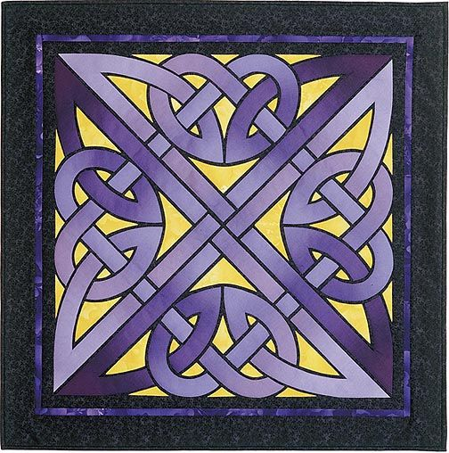 Raise your hand if you tried to follow the lines of this celtic knot pattern to figure out how it worked.