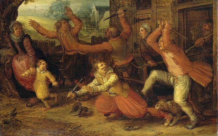David Vinckenboons. The peasant's pleasure (Крестьянские радости) ( Rijksmuseum, Amsterdam)