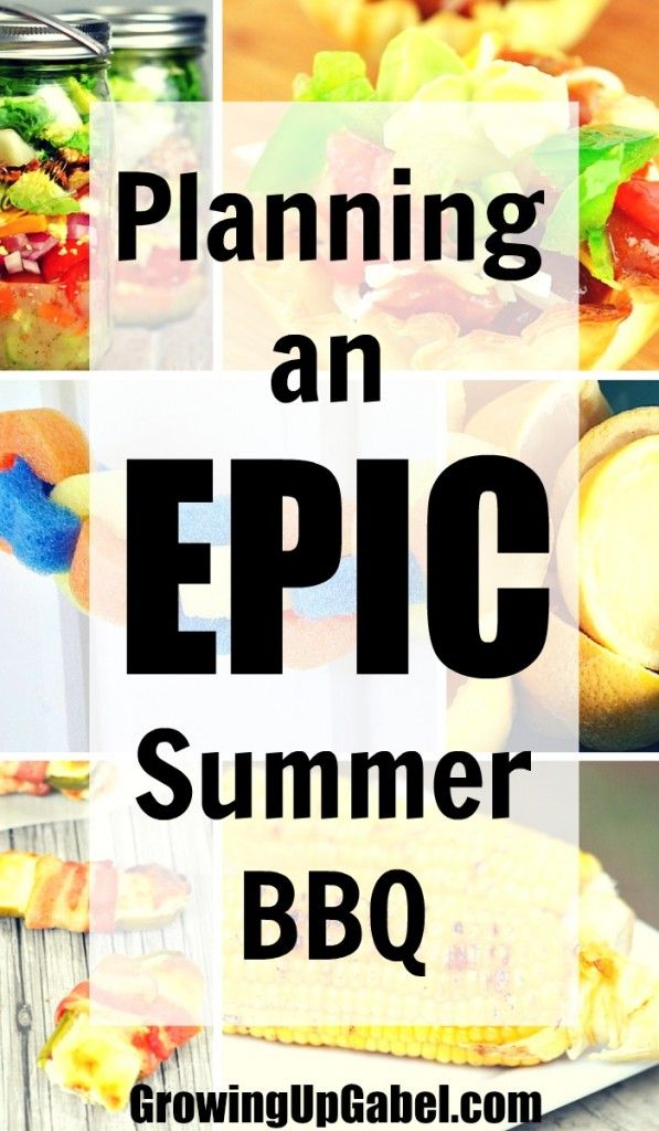 Plan an epic summer BBQ with these summer BBQ ideas! From BBQ invitations to party decorations to a BBQ menu to rule them all -  find everything you need to plan a party the neighbors will talk about for years!