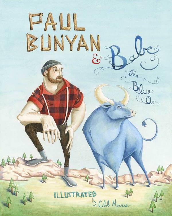 Paul bunyan babe the blue ox by caleb morris art for Tattoo grand rapids mn