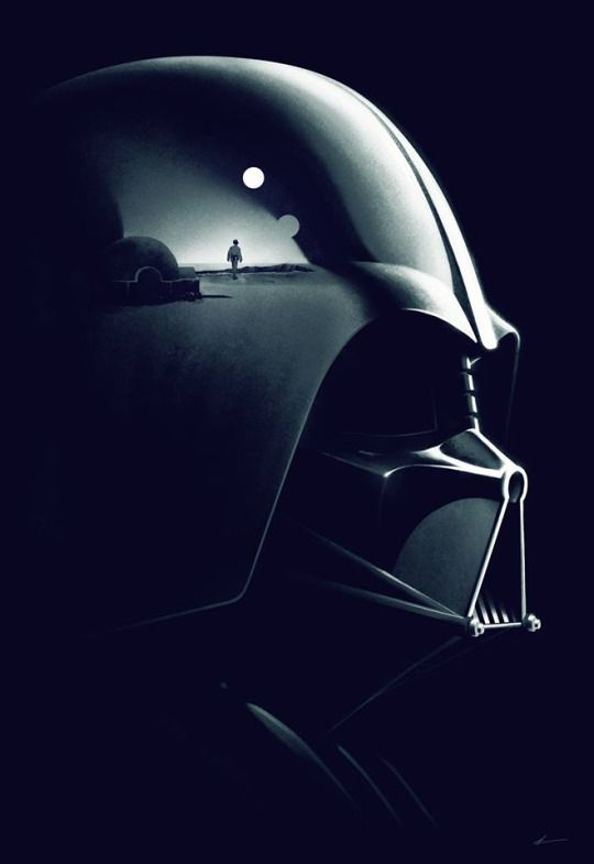 Darth Vader, the reflection of the little Anakin.