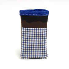 01 NATI CON LA CAMICIA Porta iPhone in tessuto e pelle Cover Case MADE IN ITALY