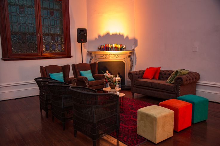 A cosy but uncluttered guest lounge with colours inspired by African fynbos. #Afrochic