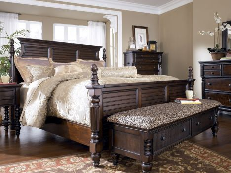 Ashley millenium king bedroom suite bedroom furniture for Bedroom suites with mattress