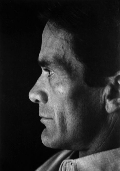 Pier Paolo Pasolini (1922-1975) -  Italian film director, poet, writer and intellectual. Photo by Anatole Saderman
