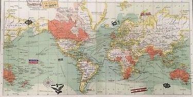 Un bonic puzzle que representa un mapa d'estil antic. Consta de 100 peces i medeix 260x380 mm.  Mides de la caixa: 10 x 9 x 9 cm Material: cartró