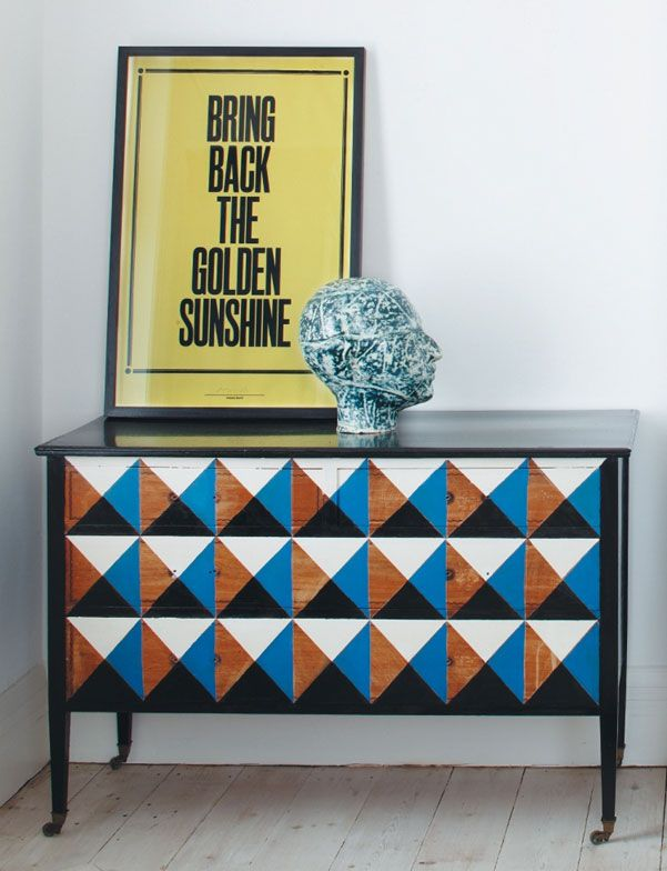 DIY: hand-painted dresser