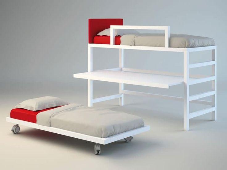 Letto con letto sotto letto a castello letto con - Letto con scrivania estraibile ...