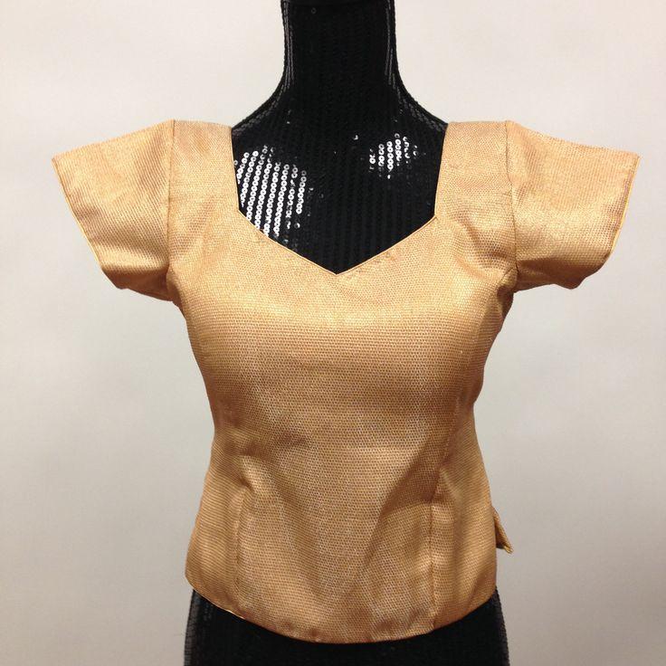 Brocade Long Kurti Blouse - Golden