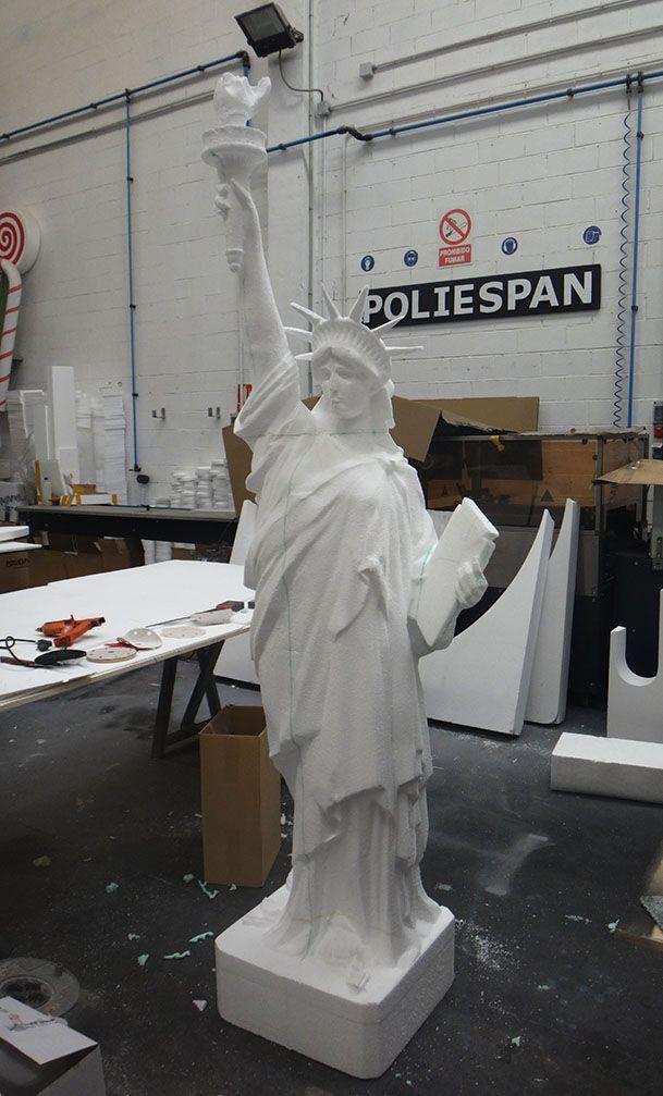 Mecanizado de Estatua de la Libertad. Poliespan. Mecanizados de Poliespan. www.poliespan.com