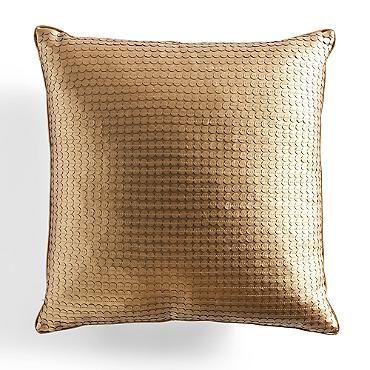 Gold Metallic Throw Pillow