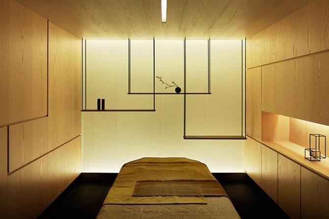 Sensai Spa by Curiosity   sleek, minimal zen massage room