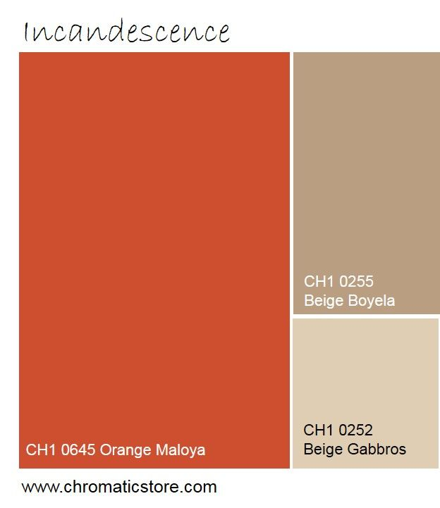 Le rouge orangé incandescent réveille le naturel des beiges sable. www.chromaticstore.com #deco #inspiration #orange