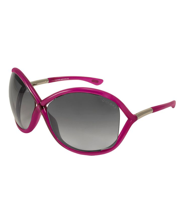 Look at this #zulilyfind! Shiny Pink & Gray Whitney Sunglasses by Tom Ford #zulilyfinds