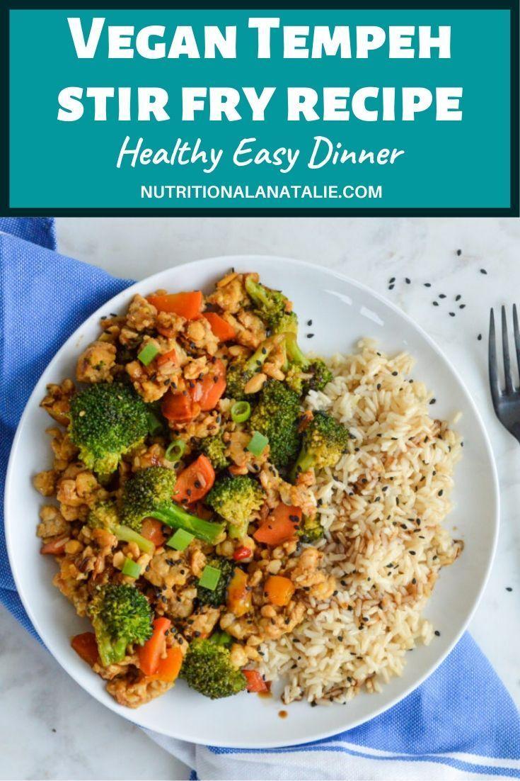 Vegan Tempeh Stir Fry With Broccoli Hoisin Sauce 30 Minute Dinner Recipe In 2020 Vegan Recipes Healthy Stir Fry Recipes Healthy Easy Tempeh Stir Fry