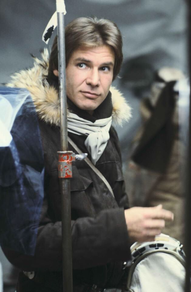Han on Echo Base.  Han, is that a harpoon??  (Harrison Ford as Han Solo from Star Wars: The Empire Strikes Back)
