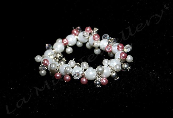 Chunky Glass Pearl Bracelet