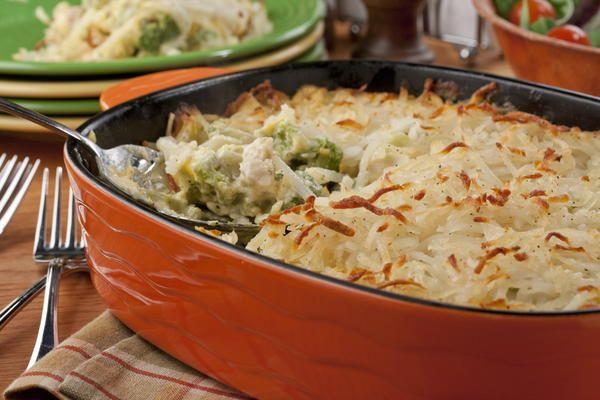 Frango cremoso com brócolis ao forno