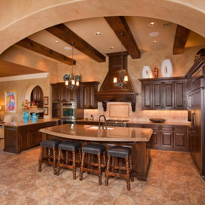 Extravagant log homes homes tuscan style featuring for Extravagant kitchen designs