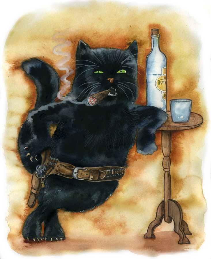 Поздравление днем, картинки мастер и маргарита кот бегемот