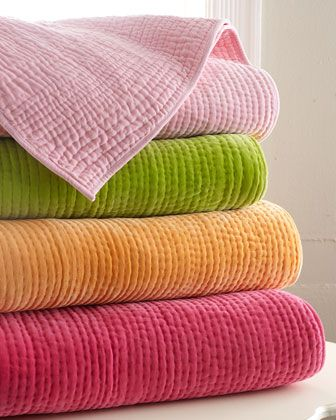 """#Horchow Amity Home """"Ethan"""" Velvet Quilts - Horchow  Layer the hot pink quilt at the foot of the bed"""