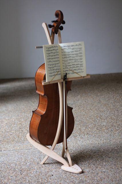 "Cello/music stand on ""My Dads Blog"" by Bim Burton. Great design!"
