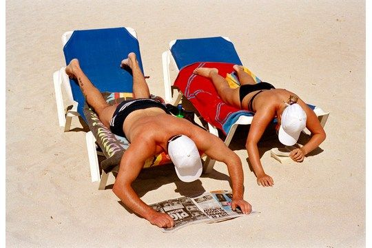 In Spain, people looking for sun.