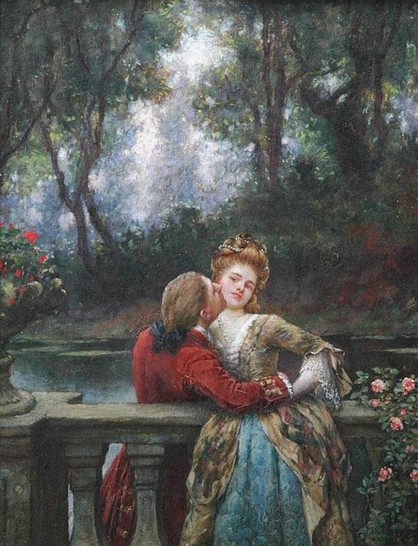 The First Kiss ~ William Arthur Breakspeare ~ Date Unknown