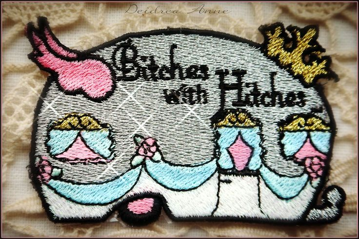 Bitches with  Hitches Glamping group patch https://www.etsy.com/listing/173381304/vintage-trailer-patchbitches-with?ref=shop_home_active_2