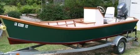 Custom Center Console Wooden Lake Skiff - Boat ...