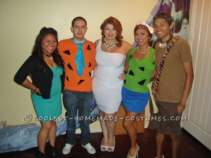 cool diy flintstones family costume - Halloween Flintstones