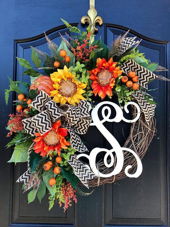 BESTSELLER Herbstkranz für Tür Monogramm Kränze