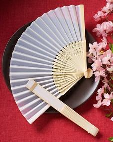 Elegant silk fans favors #handfan