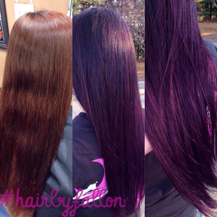Before & After Purple Ombré