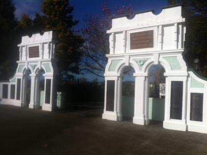Eltham School Memorial Gates -  Historypin | Walking with an Anzac