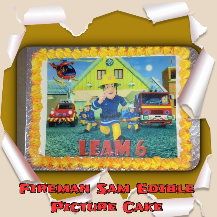 Fireman Sam Edible Picture Cake