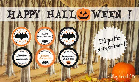 etiquettes halloween free printables des tiquettes gratuites t l charger et imprimer. Black Bedroom Furniture Sets. Home Design Ideas