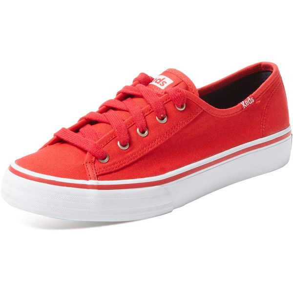 Keds Keds Women's Double Up Low Top Sneaker - Red - Size 10 (46 CAD) ❤ liked on Polyvore featuring shoes, sneakers, red, lacing sneakers, low profile sneakers, laced sneakers, red sneakers and lace up shoes