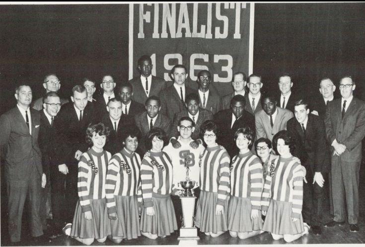 1962-1963 Varsity, Cheerleaders  Basketball Team, State -4890
