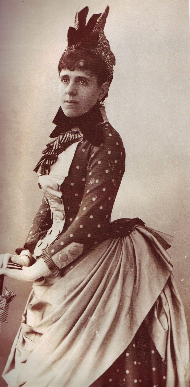 "Geneviève Halévy, late 1880s. Halévy, later Geneviève Bizet and Geneviève Straus (1849-1926), was a French salonnière. She inspired Marcel Proust as a model for the Duchesse de Guermantes and Odette de Crécy in ""À la recherche du temps perdu."""