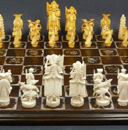 """Шахматы :  """" Китайская керамика """""""