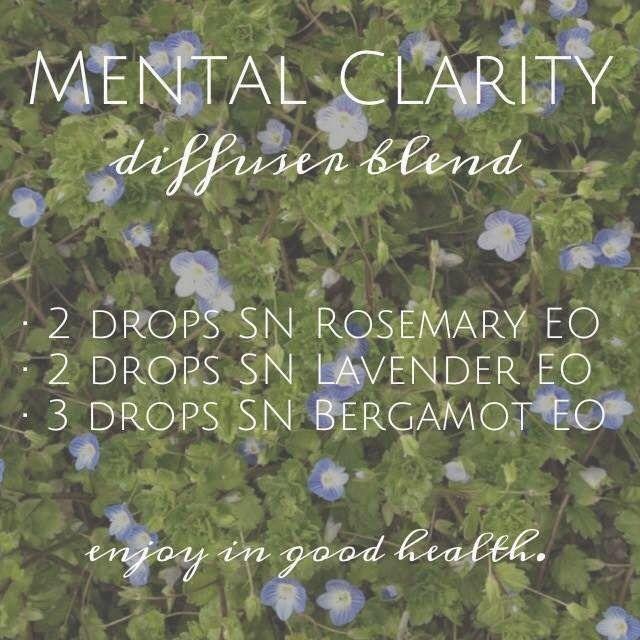 Mental Clarity Diffuser Blend - this smells amazing! | Spark Naturals #essentialoil