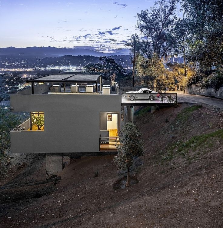 Car Park House by Anonymous Architects is one of my favorites ever. The cleverly solve how to  building on a steep slope. lavender menace