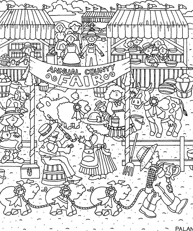 county fair colouring pages page 2